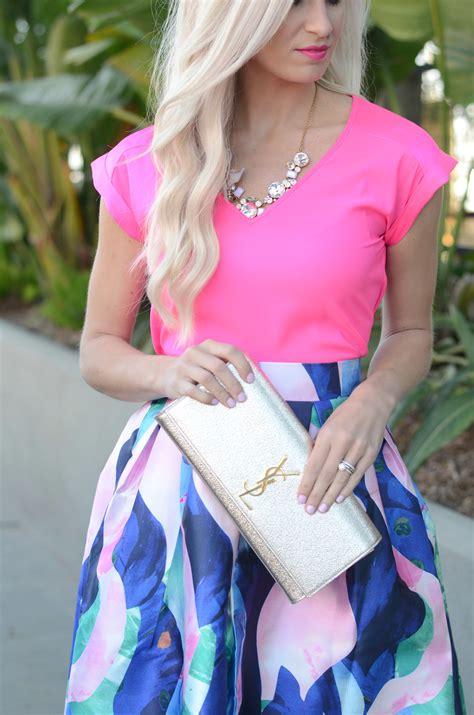 colorful midi skirt mckenna bleu