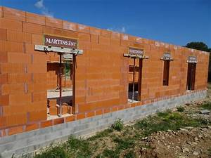 montage des murs maison et garage en brique bio39bric bgv3 With maison sans mur porteur 18 brique 02