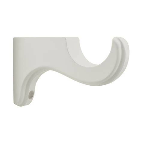 allen and roth curtain rod holder shop allen roth 2 pack white wood single curtain rod