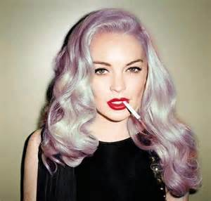 Lilac Blonde Hair Color