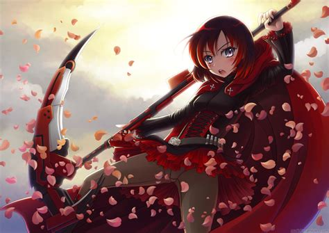 ruby rose rwby fanart rwby ruby rose by myungsoolim on deviantart
