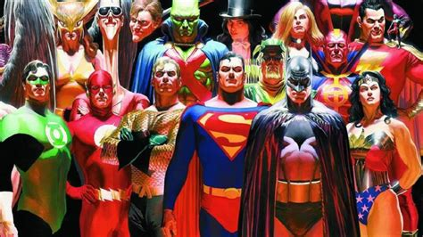 dc justice league superhero ross alex heroes kingdom come jla american movie universe history mythology hero replaced storylines taco