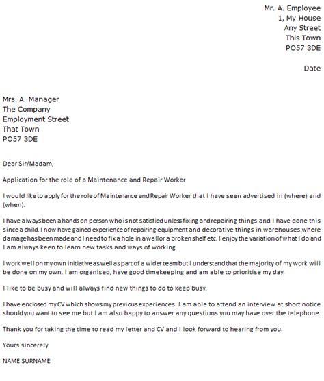 20371 resume cover letter exle general maintenance resume cover letter 28 images 10 general