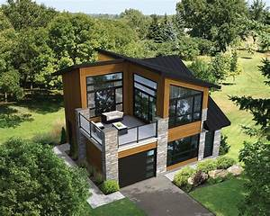 Plan 80878PM: Dramatic Contemporary with Second Floor Deck ...