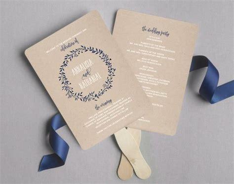 free wedding program fan wedding program fan wedding program printable navy wedding programs rustic wedding printable