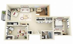 3 room apartment layout ideas houz buzz With three bedroom apartment planning idea