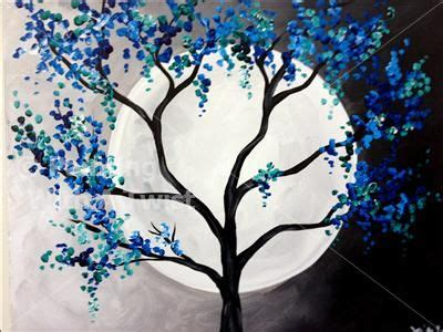 A fun and creative diy project to do when you are bored at home! Coffee & Canvas - Blue-Green Moon - Tampa, FL Painting Class - Painting with a Twist   Art ...