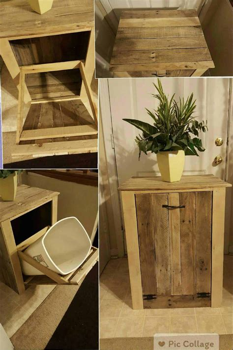 garbage  holder   pallet wood  pallets