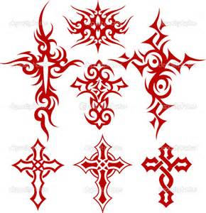 Tribal Crosses Tattoos