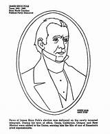 Sideburns Coloring Polk James Template Presidents Usa sketch template