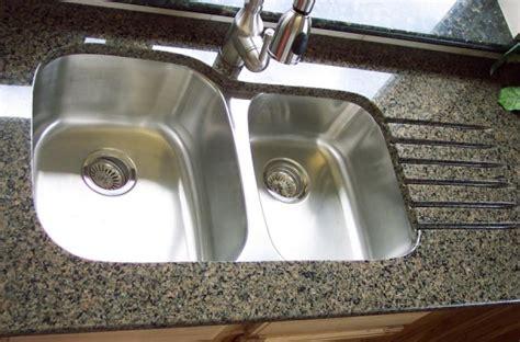 double sink granite countertop undermount double bowl kitchen sink in granite countertop