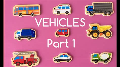 Learning Different Types Of Special Street Vehicles Names