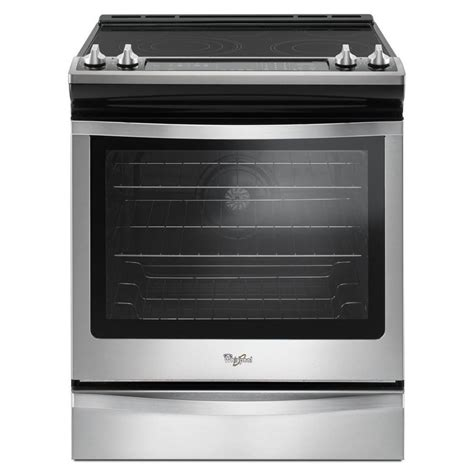 drop in electric ranges with downdraft shop whirlpool smooth surface 5 element self cleaning
