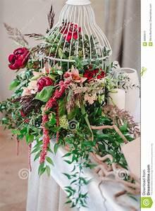 Wedding Ceremony Decoration In Restoraunt The Composition