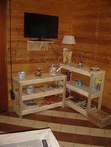 Meuble En Coin : meuble artisanal console coin tv en bois de palette tag re tv ebay divers rangements ~ Teatrodelosmanantiales.com Idées de Décoration