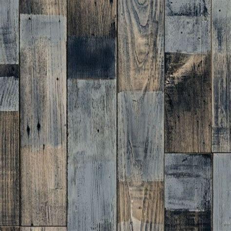 Sheet vinyl flooring in blue, distressed, driftwood design
