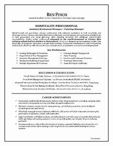 hospitality resume writing example With canadian style resume and cover letter
