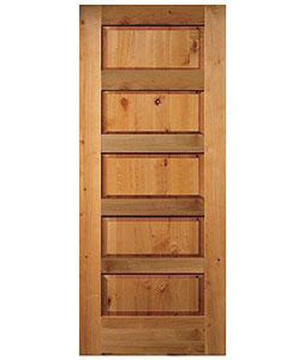 5 panel interior door 5 panel equal raised knotty alder stain grade solid