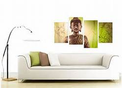 Living Room Canvas Art by Canvas Art Of Buddha In Green For Your Living Room