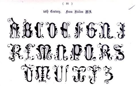 typography alphabet ornate italian 10th century 27 types of ty 183 pog 183 ra 183 phy