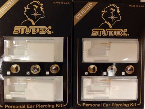 studex diy personal ear piercing kit  pierce crystal