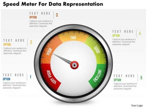 speed meter  data representation powerpoint template