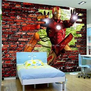 Avengers Iron Man Photo Wallpaper 3d Bricks Wallpaper ...