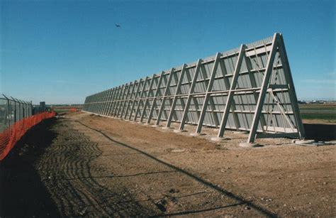 airport jet blast deflector wall  protection system