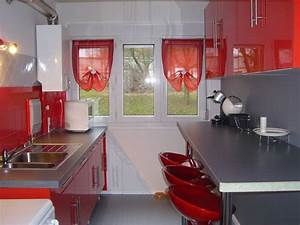 Cuisine rouge et grise 35 photos la cuisine tendance et for Idee deco cuisine avec cuisine orange et gris