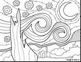Coloring Sky Night Starry Pages Pond Drawing Mudge Henry Fish Van Clipart Getdrawings Sunflowers Getcolorings Printable Gogh Print Vincent sketch template