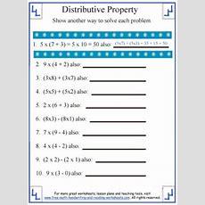 Distributive Propertymath Worksheets
