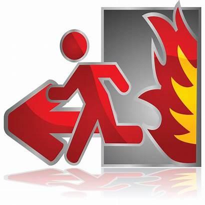 Fire Safety Plan Nooduitgang Uscita Notausgang Sicurezza