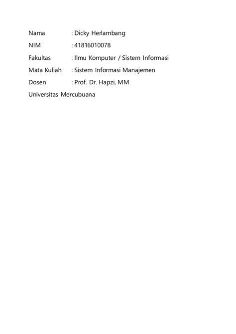 Sim 2, dicky herlambang (41816010078), prof dr hapzi ali