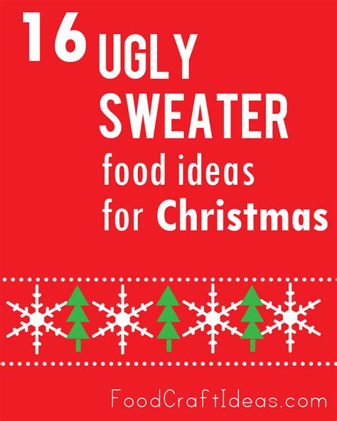 ugly sweater food ideas  christmas  top dessert