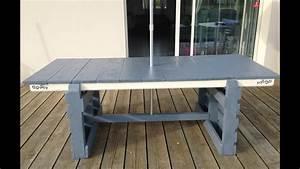 Comment Fabriquer Une Table De Ferme En Bois : tuto cr ation d 39 une table de jardin table d 39 exterieur avec palette et r cup youtube ~ Louise-bijoux.com Idées de Décoration