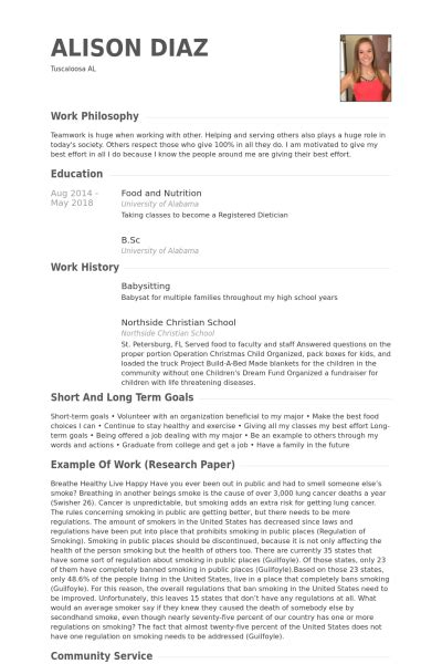 Babysitting Resume by Babysitting Resume Sles Visualcv Resume Sles Database
