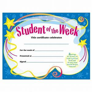 trend student of the week certificate quickshipcom With student of the week certificate template