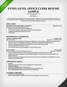 resume exle entry level accounting clerk positions in minecraft administrative assistant resume sle resume genius
