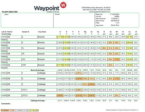 reports waypoint analytical