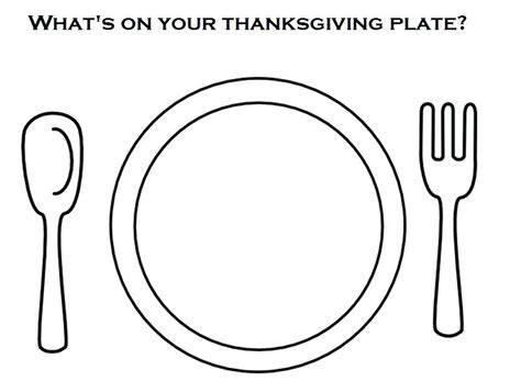 Food Plate Food Coloring Pages It Aq