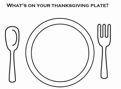 Plate Coloring Dinner Pages Eating Healthy Printable