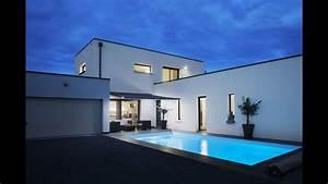 Maison En L Moderne : maison contemporaine neuve avec piscine youtube ~ Melissatoandfro.com Idées de Décoration