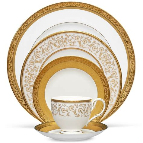 dinnerware sets noritake gold summit china service setting place 40pc dishes tableware fine chinaware traditional piece floral tabletop kitchen noritakechina