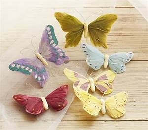 Feather butterfly clip ons pottery barn kids