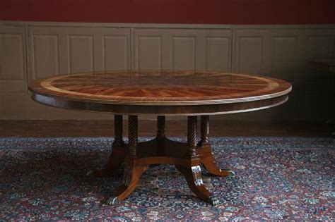 72 inch round dining table 72 quot high end round mahogany dining table with duncan phyfe
