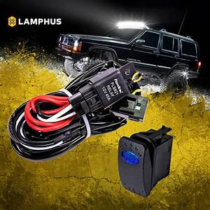 Lamphus 12v 40a Off Road Light Bar Wiring Harness Relay