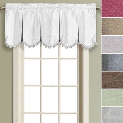 Valances Sale by Faux Silk Pleated Scalloped Valance By United Curtain