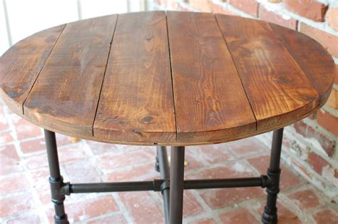 round industrial coffee table round coffee table industrial wood table 30 by