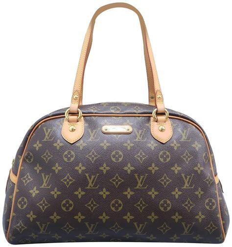 louis vuitton montorgueil gm monogram brown canvas shoulder bag tradesy