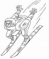 Coloring Pages Ski Winter Olympics Jump Skiing Jumper Science Printable Coloringpagesgreat олимпийские раскраски February Sketches Popular Dari Disimpan sketch template